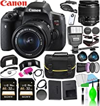 Canon EOS Rebel T6i DSLR Camera w/EF-S 18-55mm f/3.5-5.6 is STM Lens Kit Bundle with (2) Sony 32GB SDXC Card + Canon Battery + Large Camera Bag + Filter Kit + Wide Angle & Telephoto Lenses and More