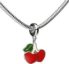 Tinksky Pendenti di Gioielli Frutta di Mestieri Ciondoli per Gioielli Fai Da Te 12pcs