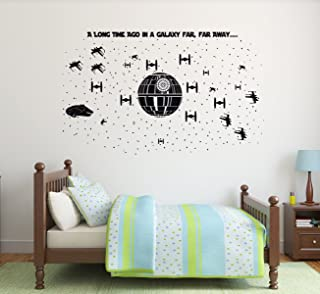 Star Wars Wall Decor - Death Star Ultimate Battle Scene - Vinyl Decal For Boy's Bedroom, Gameroom or Playroom