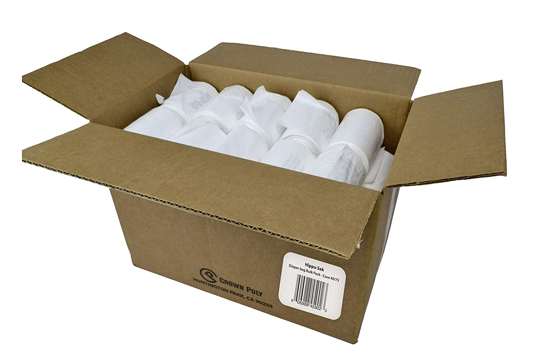 Hippo Sak Diaper Disposal Bags, Bulk 3,000 Count, White
