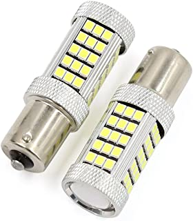 WerFamily 2pcs 1156 BA15S High Power Projection 63-SMD 2835 Super Bright White LED Backup Turn Signal Tail Light Bulbs