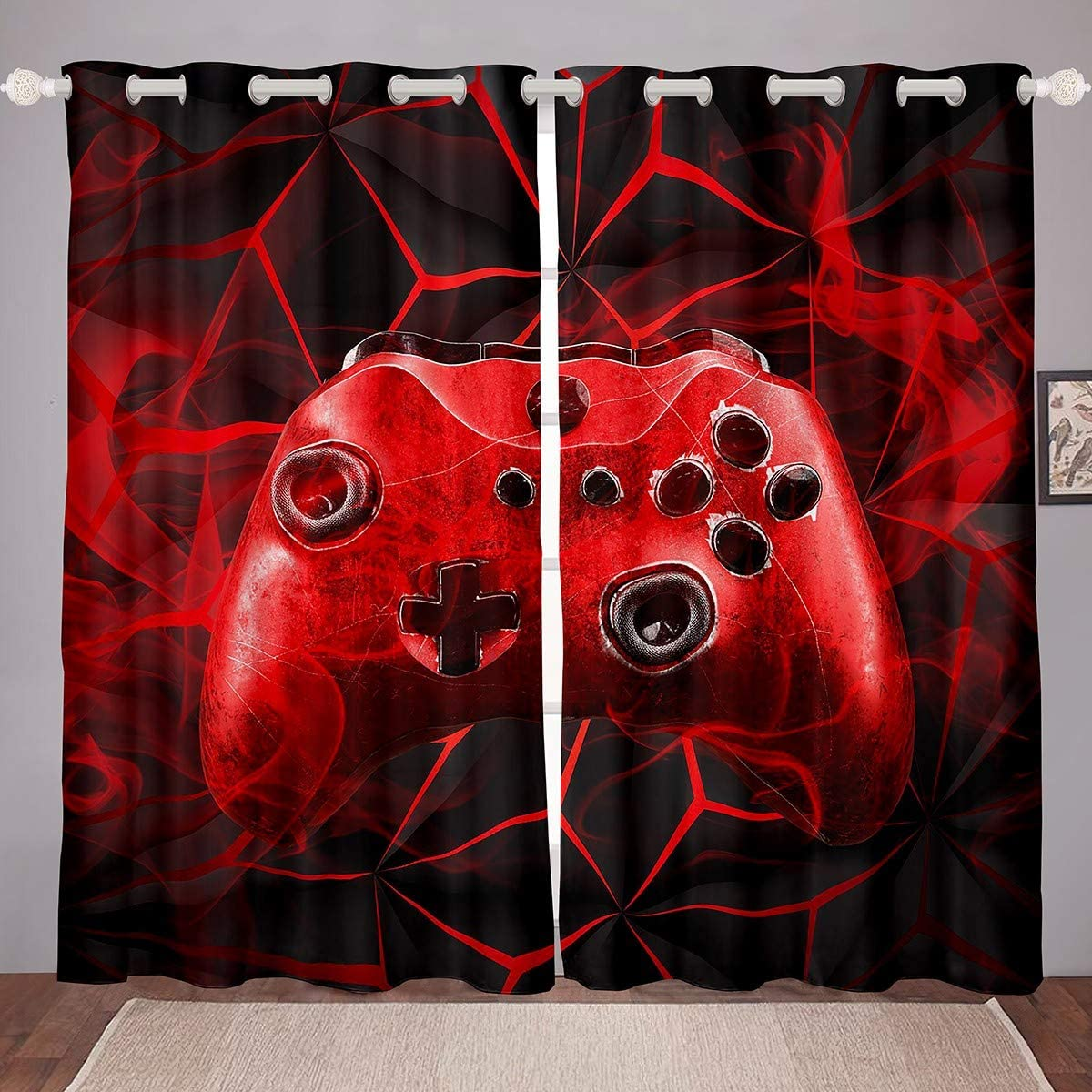 Boys 早割クーポン Gamepad Curtains for Bedroom 供え Living Gamer Game Room Video G