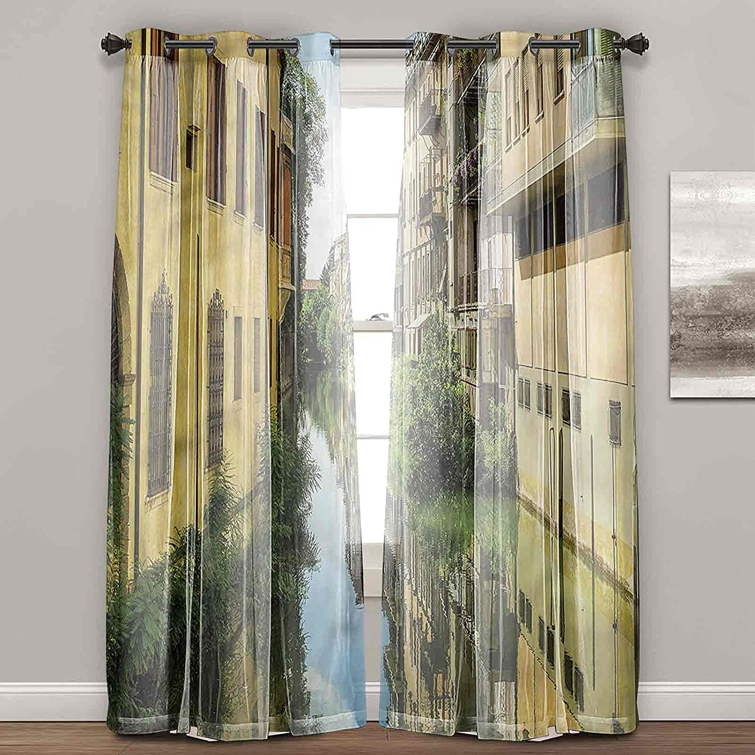 Window Limited time sale Curtains for Bedroom Cityscape L Residential Department store Canal City