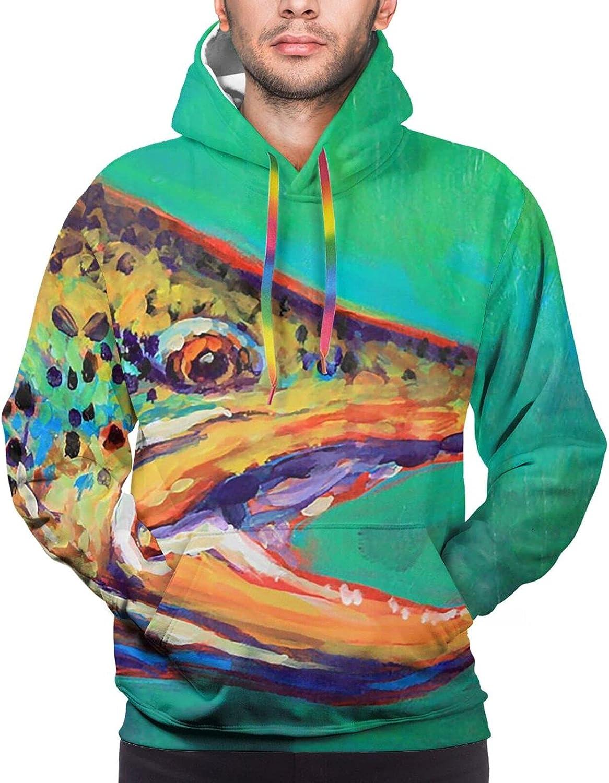 Hoodie For Mens Womens Teens Brook Trout Fishing 3d Printed Hooded Sweatshirt