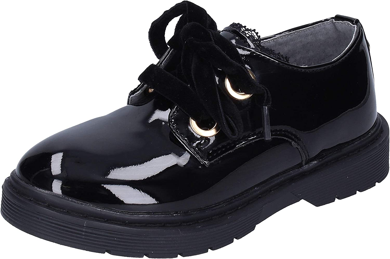 SOLO SOPRANI Oxford-Flats Baby-Girls Patent-Leather Black