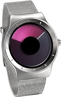 JewelryWe Men Women Wrist Watch Novelty Swirl Unique Design Stainless Steel Mesh Watch Quartz Wristwatch