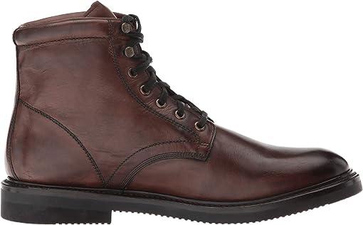 Dark Brown Hammered Dip-Dye Leather