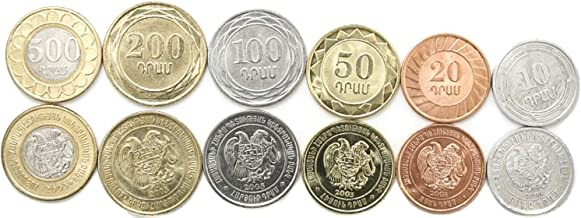 Armenia 6 Coins Set 2003 UNC 10-500 DRAM Collectible Coins to Your Coins Album, Coin Holders OR Coin Collection