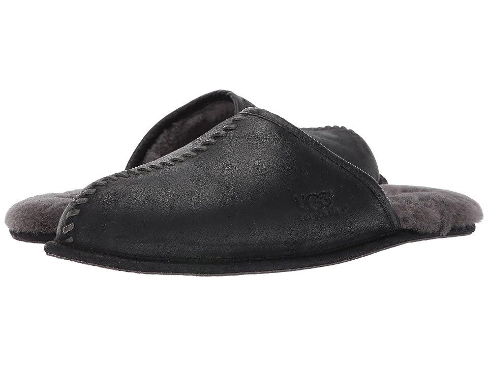 UGG Scuff Deco (Black Leather) Men