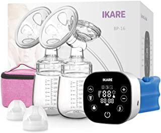 Green Hospital Grade Pain Free Breast Pump Rechargeable 3 Modes 9 Strong Suction Levels Breast Feeding Pump Great Massage Mode for Moms Comfort Electric Breast Pump
