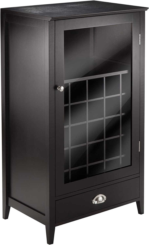 Winsome Wood 25-Bottle Slot Modular Bordeaux Wine Cabinet