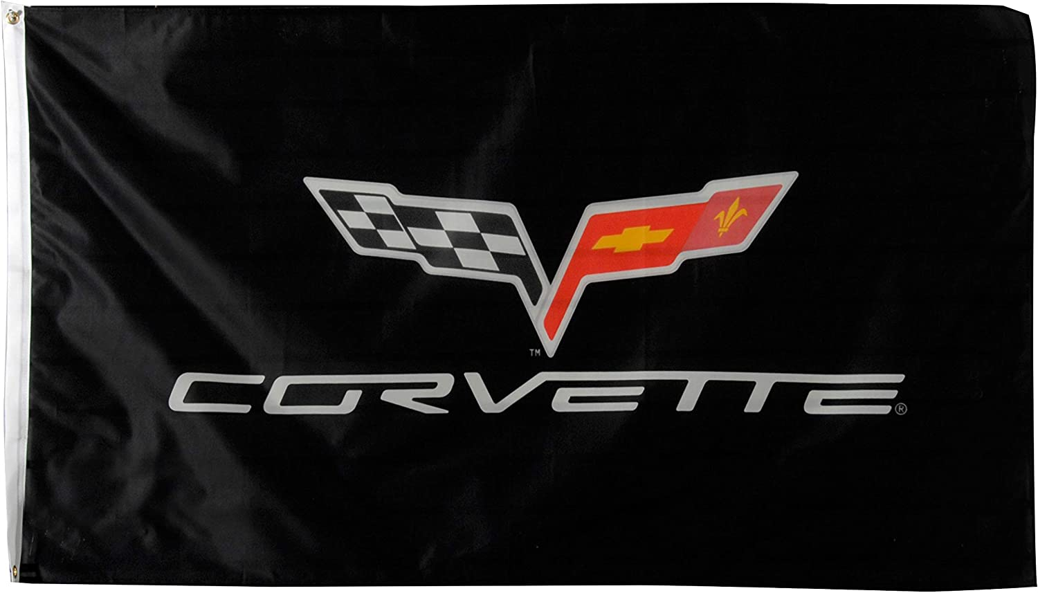 C6 Corvette Flag Banner 3' x - Logo 64 Ranking TOP1 Special Campaign with Black 5'