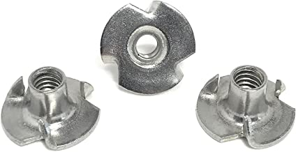 100-Pack Prime-Line 9077880 T-Nuts #8-32 X 1//4 in. 3-Prong Zinc Plated Steel