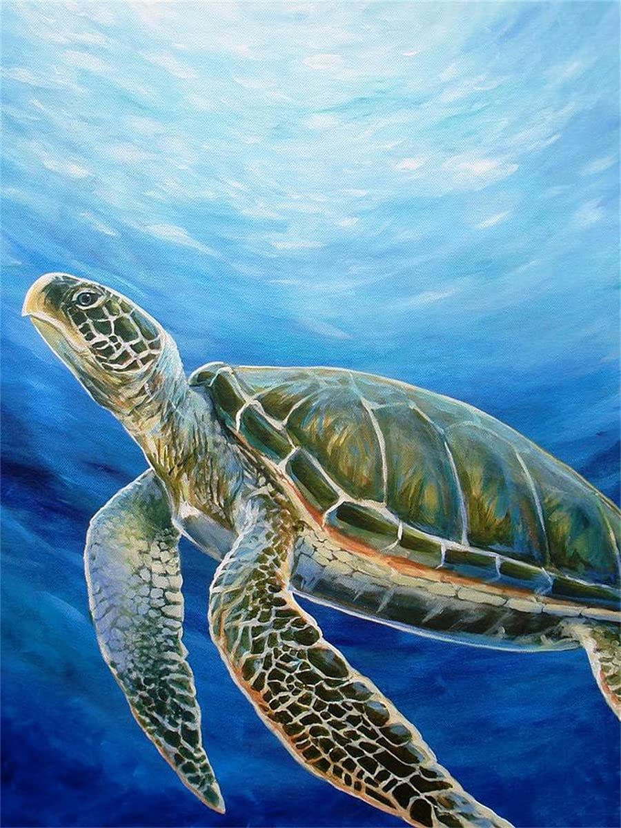 Square Diamond Painting Max High material 40% OFF Full Sea Turtle