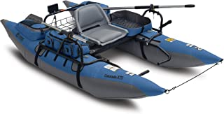Classic Accessories Colorado XTS Inflatable Fishing Pontoon Boat With Transport Wheel, Motor Mount & Swivel Seat