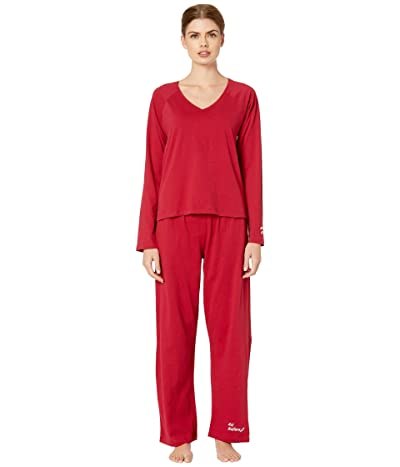 Skin Natural Skin Jemma Organic Cotton PJ Set (Scarlet) Women