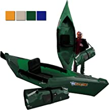 Tucktec Advanced 2020 Model 10 Foot Foldable Kayak Folding Canoe, Portable Lightweight, Boat Fits in Your Car No Roof Rack Needed, Stronger Than Inflatable, for Kids or Adult