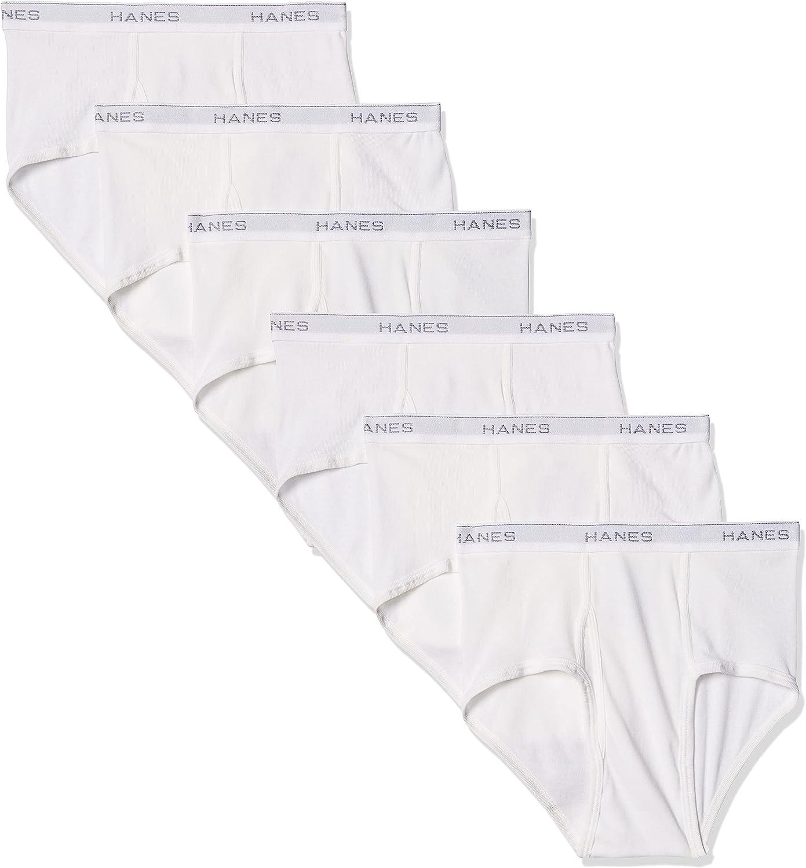 Hanes Men's 6-Pack FreshIQ Tagless Cotton Brief