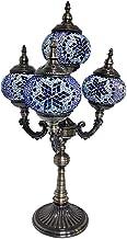 Turkish Moroccan Retro Table Lamp 4 Head Handmade Mosaic Glass Desk Lights Tiffany Style Romantic Night Light for Bedroom ...