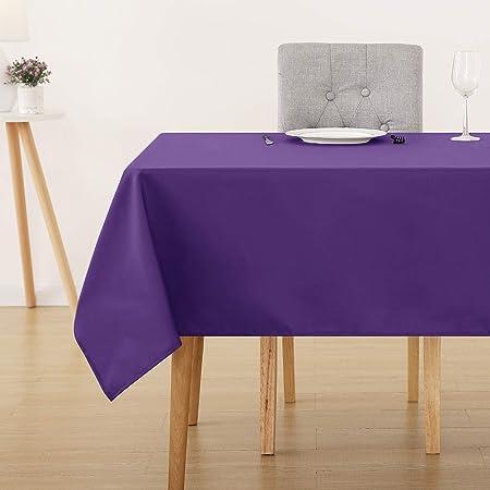 Deconovo Nappe Rectangulaire Waterproof pour Bureau 150x300 cm Violet