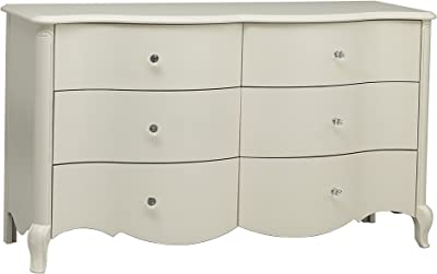 Suite Bebe Julia 6 Drawer Double Dresser White Linen