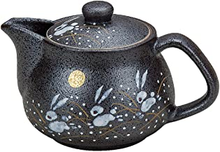 I rabbit Kutani pottery teapot pot (with tea strainer)