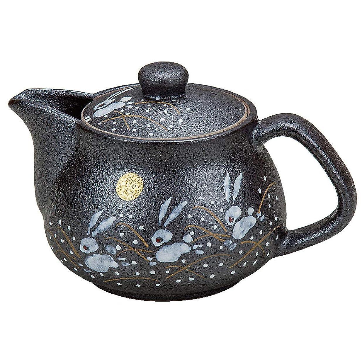 写真を撮る葉を集める磁石九谷焼 陶器 急須ポット はねうさぎ(茶こし付き) AK3-0584