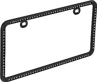 Bell Automotive 22-1-46501-8 Universal Black Diamond Design License Plate Frame