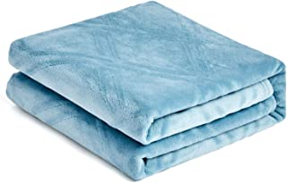 HT&PJ Super Soft Lightweight Flannel Fleece Throw Blanket Microfiber Velvet Cozy Warm Throw Blanket for Living Room (Throw 50
