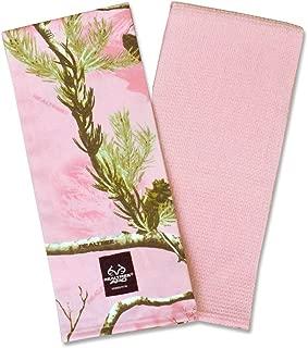 DII 100% Cotton, Machine Washable, RealTree Camo Kitchen Dishtowel Gift Set, Includes 2 Different Designed Dishtowels, 18 x 28