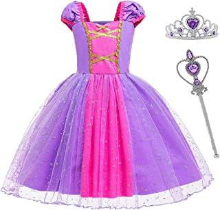 MYZLS Little Girls Princess Dress up Toddler Elegant Fancy Party Costume Dress Halloween Dress Up Outfit for 1-6 Years