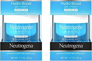 Hydro Boost Hyaluronic Acid Hydrating Face Moisturizer Gel-Cream to Hydrate and Smooth Extra-Dry Skin, 1.7 oz (2 Pack)