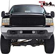 Tidal Replacement F250 Grille Mesh Front Black ABS Upper Grill for 99-04 Ford F250/F350/F450 Super Duty