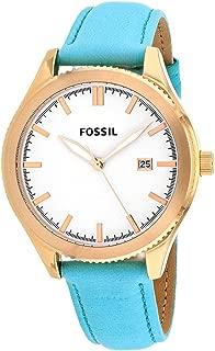 Classic Luminous White Dial Gold Tone Teal Leather Women's Watch BQ3271