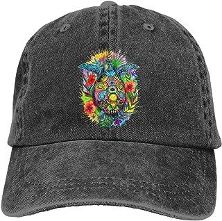 Hawaiian Sea Turtle Island Flower Men Women Adjustable Baseball Caps Denim Fabric Hip-hop Cap