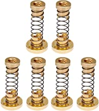Sunhokey T8 Anti Backlash Spring Loaded Nut Elimination Gap Nut for 8mm Acme Threaded Rod Lead Screws (Pack of 6)