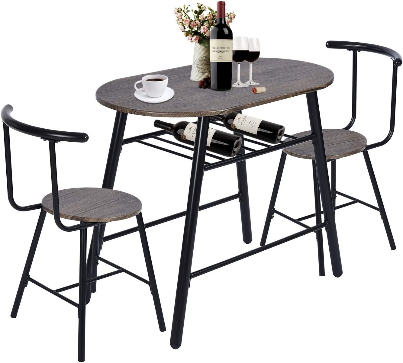 Buy GreenForest 9 Piece Dining Table and Chairs Set Modern ...