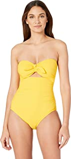 bab4e4256c8d6 FREE Shipping on eligible orders. Kate Spade New York Womens Grove Beach  Tie Bandeau One-Piece Swimsuit w/Removable