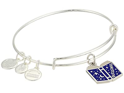 Alex and Ani Blessings Book Charm Bangle (Shiny Silver) Bracelet
