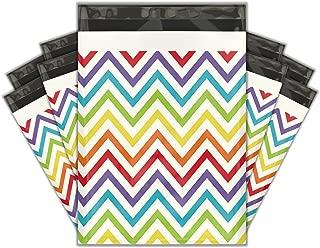 10x13 (100) Rainbow Chevron Designer Poly Mailers Shipping Envelopes Premium Printed Bags