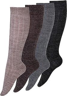 KB – Calcetines – 1 – 4 pares de calcetines de lana con alpaca – Lana con alpaca talla 43 – 46, 39 – 42
