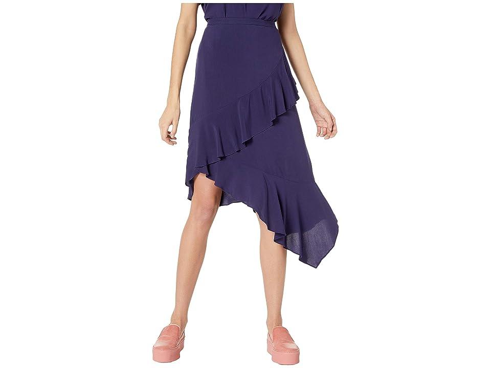 NeverEven Ruffle Wrap Skirt (One Am) Women