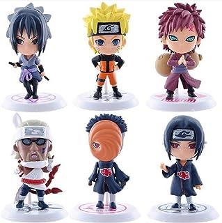 shuaiyin 6 st Q version Naruto dockmodell, animedockor figur PVC-leksaker, samlarobjekt anime-karaktär dekorationsfigur, N...