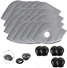 Activated Carbon Filters Replacements Parts Set of 15 Fit for Most Cycling Filters with 6 Exhaust Valves Replacement Dust ...