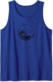Yin Yang polynesian Maori surfer backpacker tattoo t-shirt Tank Top
