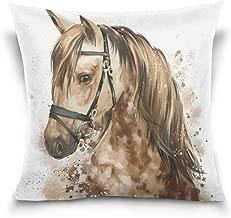 Top Carpenter Horse Head Velvet Plush Throw Pillow Cushion Case Cover - 18 x 18 - Invisible Zipper Home Decor Floral for Couch Sofa No Pillow Insert