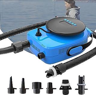 پمپ باد الکتریکی دو مرحله ای SUP20D 20PSI برای SUP و قایق بادی ، سیستم عامل هوشمند نسخه جدید با سنسور دما و ولتاژ داخلی