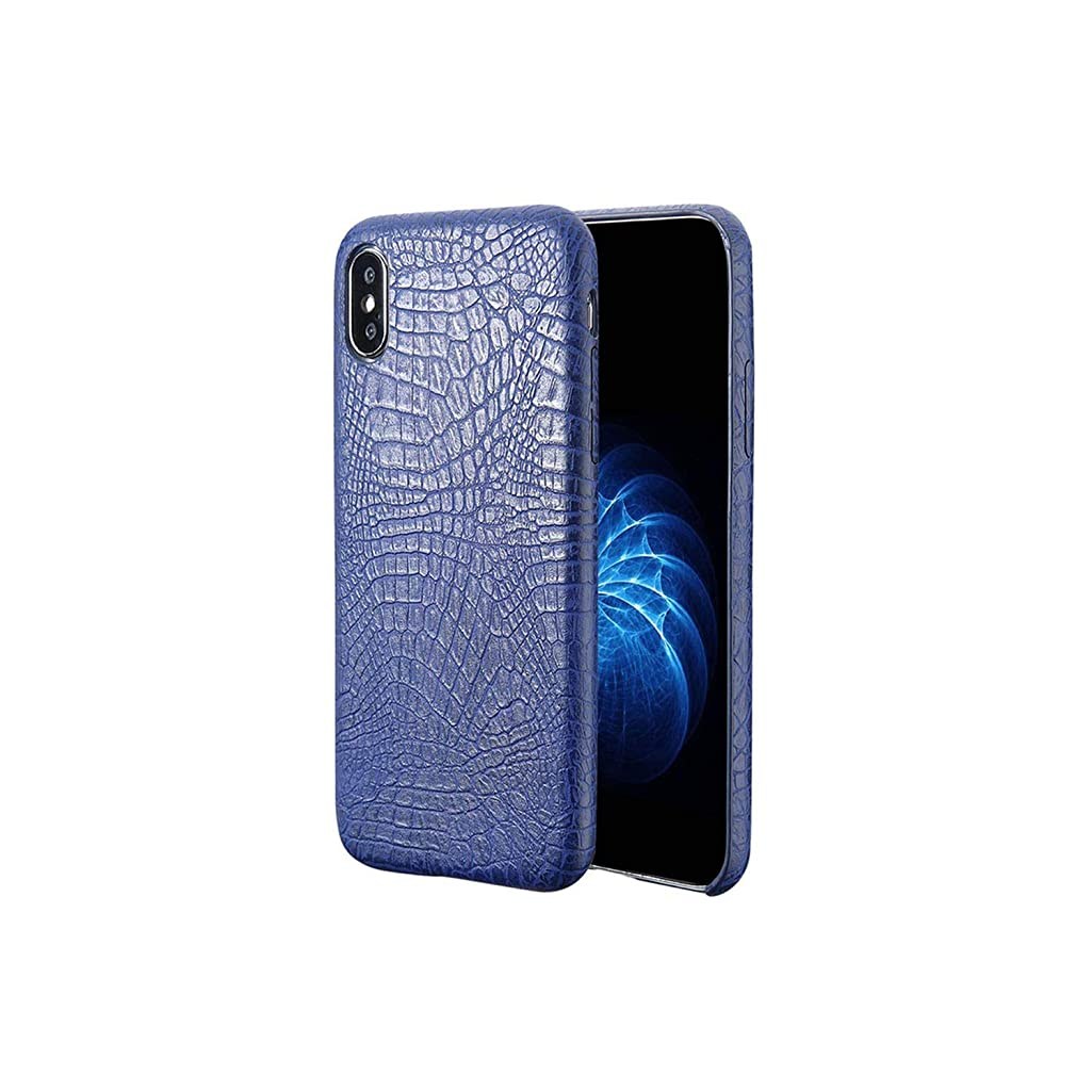 Ivyi Compatible for Pu Phone Case Cover for iPhone Xs Max Xr X 5 5S Se 6 6S 7 8 Plus Back Cover Shell,Blue,for iPhone Xs
