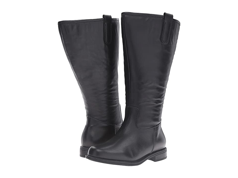 David Tate Best Wide Shaft (Black Leather 2) Women