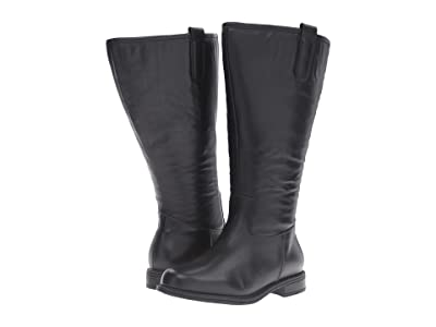 David Tate Best Super Wide Calf (Black Leather 2) Women
